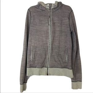 Lululemon heathered Gray ZIP jacket size Medium